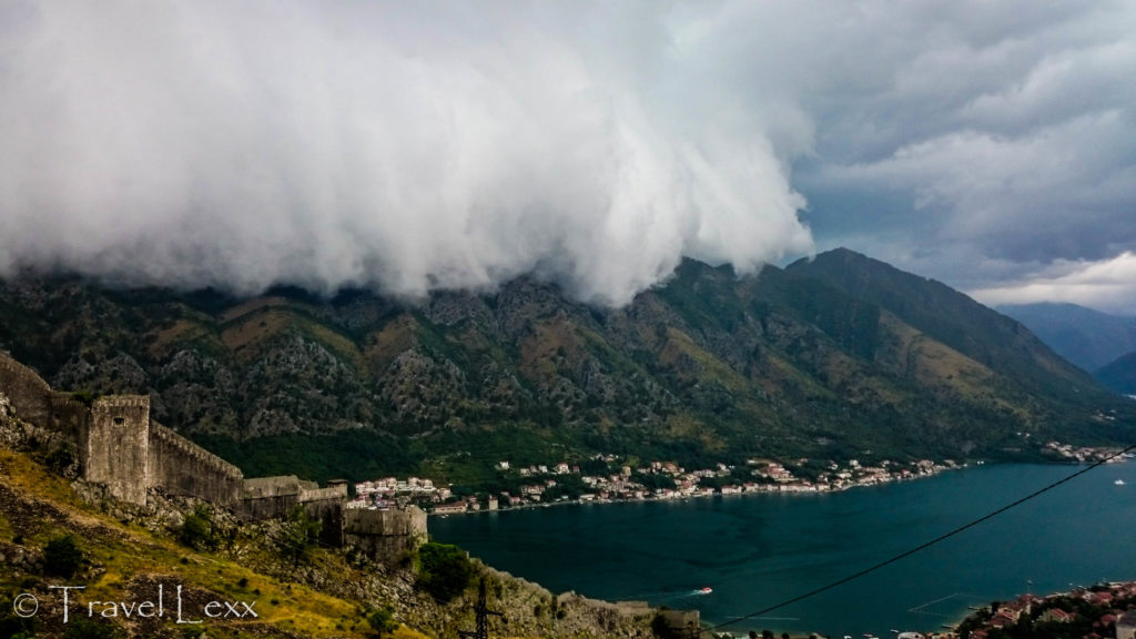 Fog rolling in over Kotor