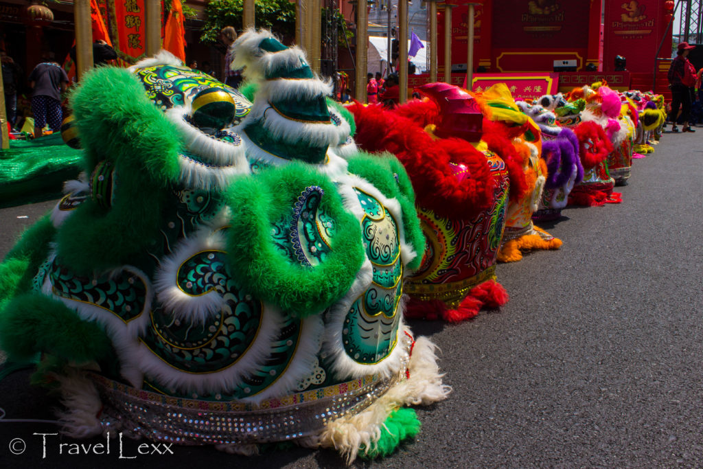 Elaborate Lion Dance headgear