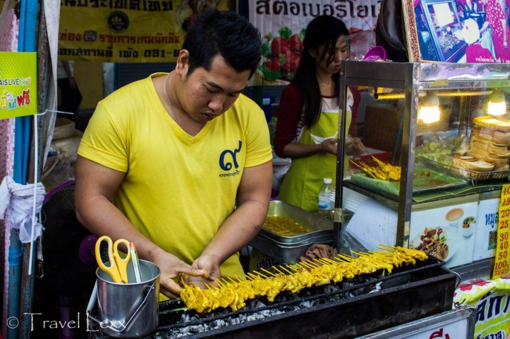 Food stalls in Chinatown, Bangkok