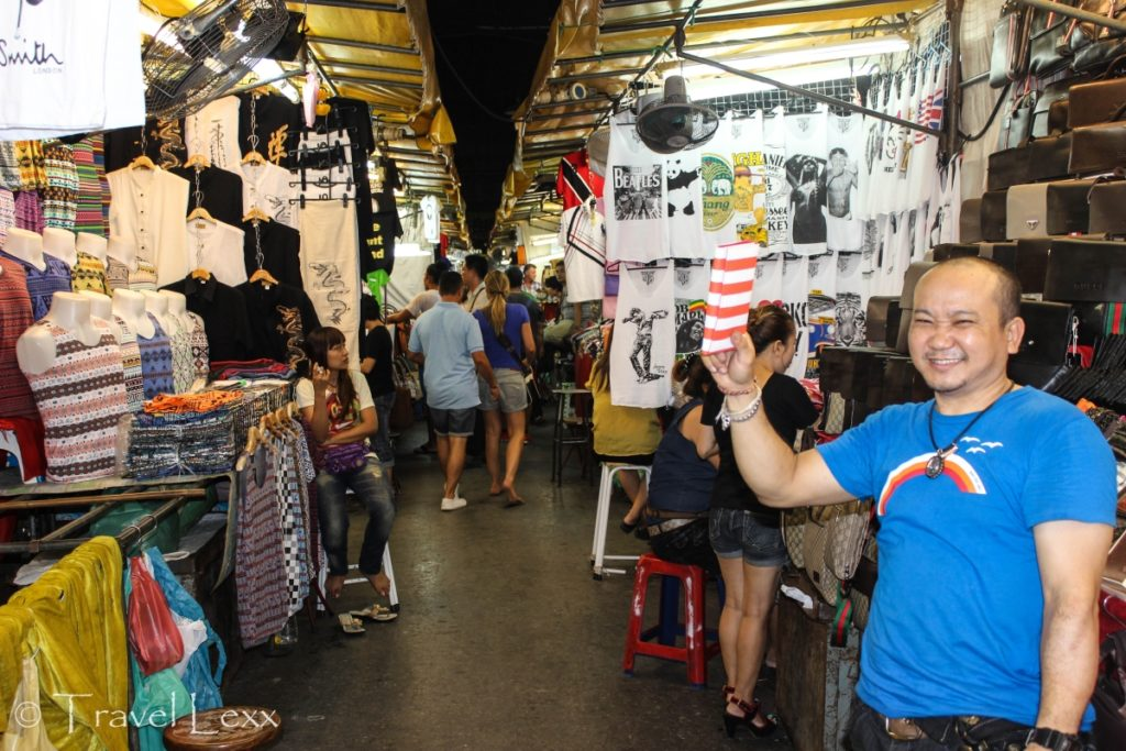 A happy stall owner at the Patpong Night Market