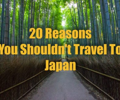 20 Reasons Why You Shouldn't Travel To Japan