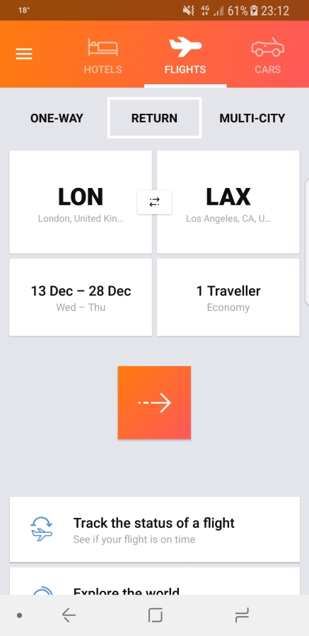 Travel Apps - Kayak