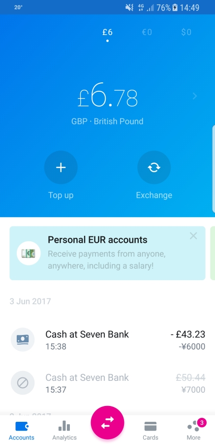 Travel Apps - Revolut