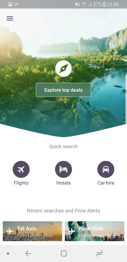 Travel Apps - Skyscanner
