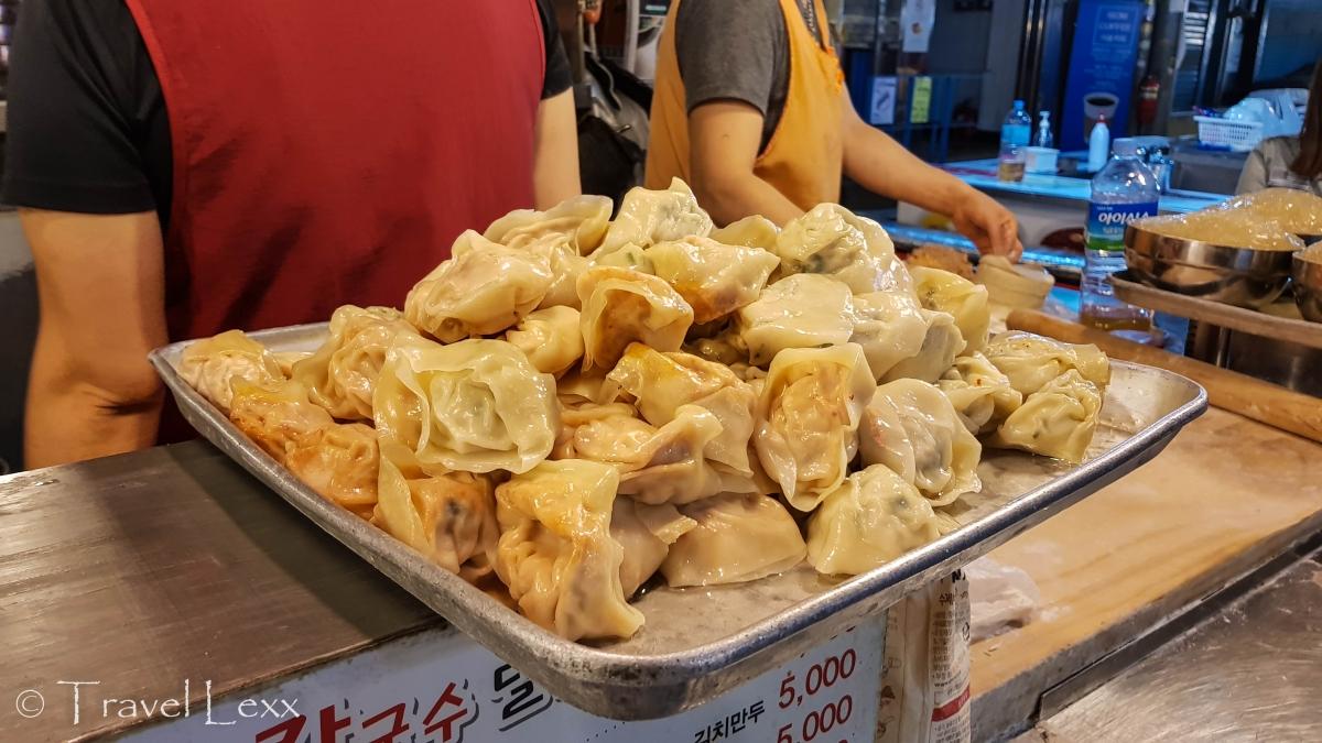 Korean dumplings - Gwangjang Market