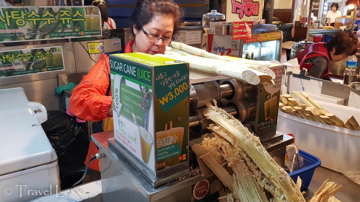 Sugarcane juice - Gwangjang Market