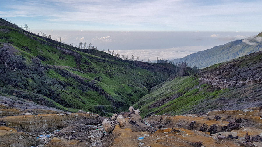 Ijen plateau landscape