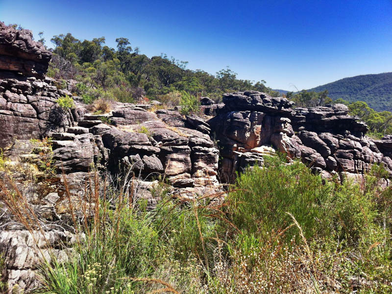 Rocks along the Pinnacle Walk in Grampians National Park