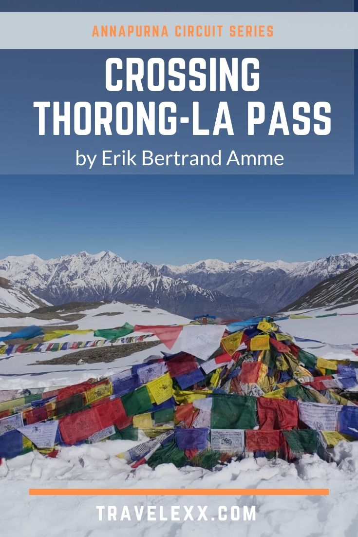 A pinnable image of prayer flags at Thorong-La Pass, Nepal