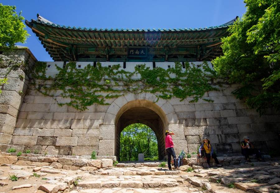 A large stone gate in Bukhansan National Park